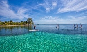Stand-up paddleboarding, Belize