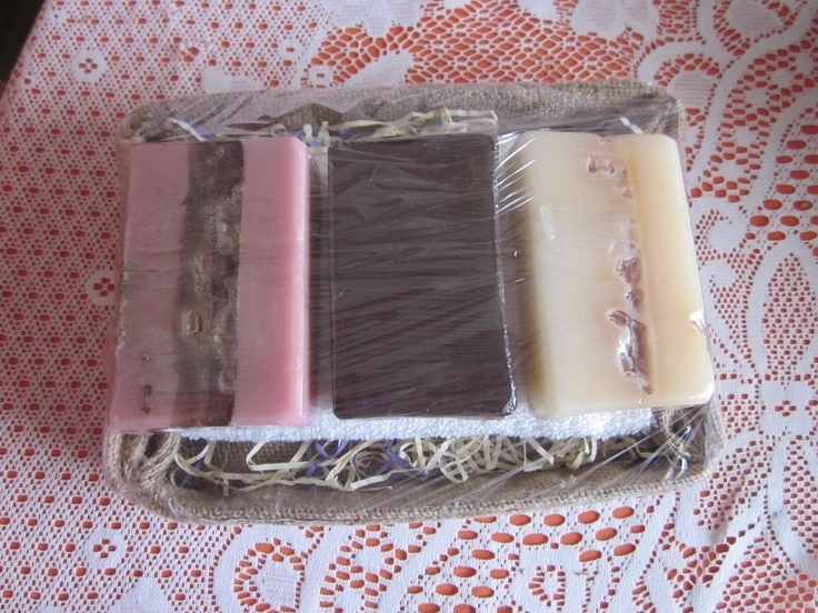 The Algarve pack - with Fig and Shea butter soap + Carob, Honey and Almond soap + Goat's milk and Apricot soap