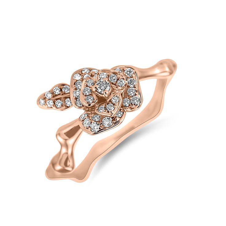 Ring Renaissance Camelia www.alodiamonds.com www.alo.cz
