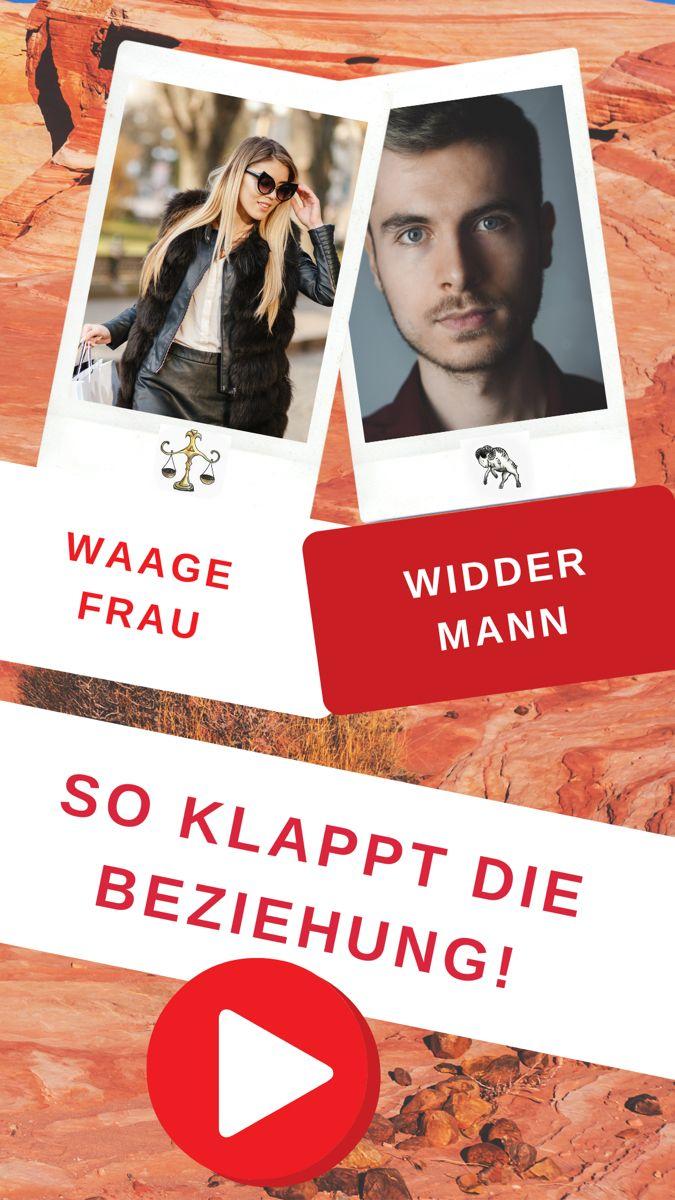 Widder Frau Waage Mann