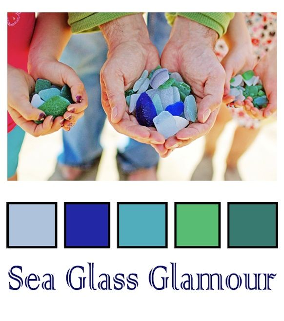 WEDDING COLOR PALETTE SEA GLASS We Love The Idea Of Planning A Summer 2012 Beach