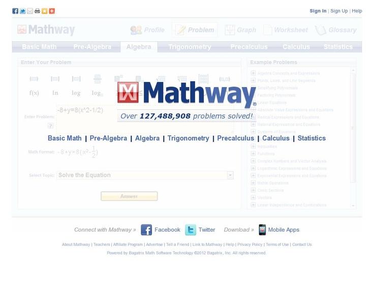 online calculator mathway