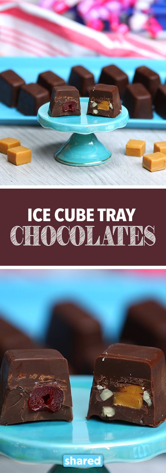 Ice Cube Tray Chocolates
