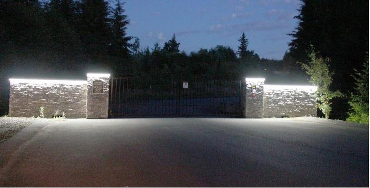 LED Exterior Lighting - Weather Resistant Normal Bright Warm White Lights 3200K. Easy to install and can be connected to your current system or new system! #12VDC #12VAC #Gate #LED #Lighting #Outside #outdoor by Inspired LED