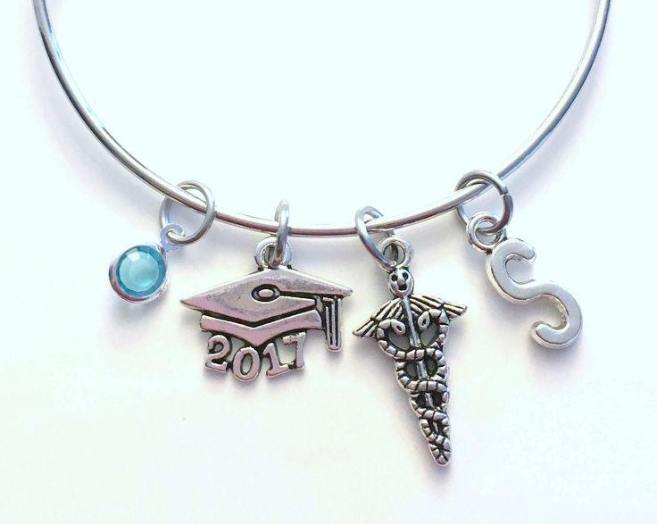 Graduation Charm Bracelet, Caduceus Jewelry, Medical Gift ...