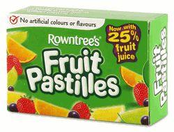 Nestle Rowntree Fruit Pastilles Box - 4.40oz (125g) http://www.englishteastore.com/nerofrpa.html