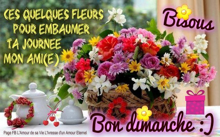 Ces quelques fleurs pour embaumer ta journée mon ami(e) Bon dimanche :) Bisous #dimanche fleurs bouquet bon dimanche