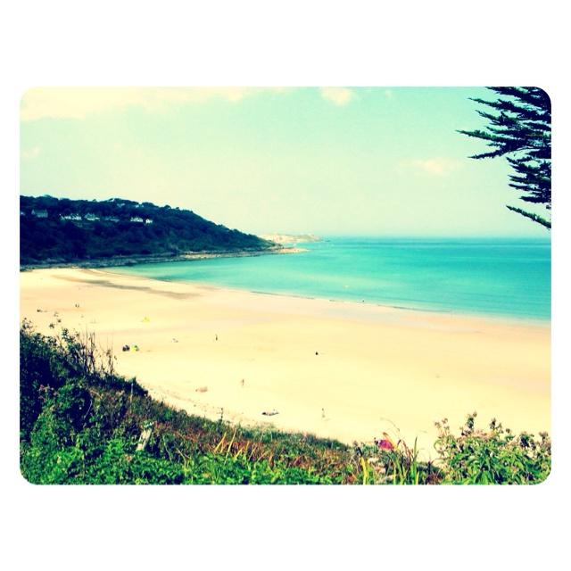Retro Postcard - Carbis Bay: Retro Postcards,  Coast, Carbis Bays,  Seacoast, Plans Secret,  Sea-Coast, Graphics Design