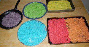 Frugal Kid: St Patricks Day Craft Rainbow Rice