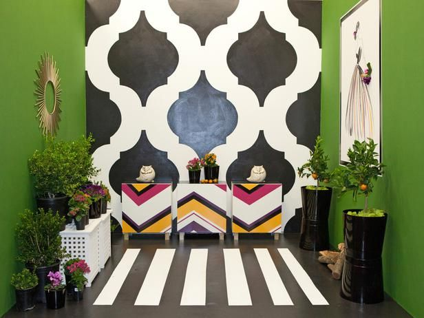 How to paint a chevron-patterned dresser (like the one finalist Rachel Kate created on last night's Design Star episode.)