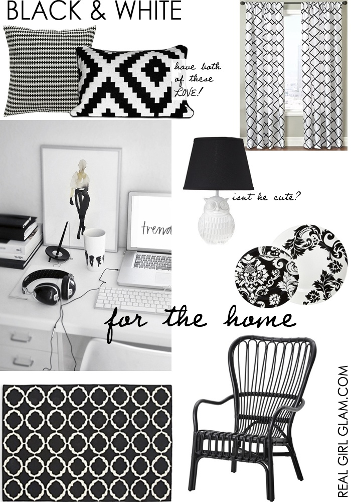 From Closet to Couch- Black & White Accessories