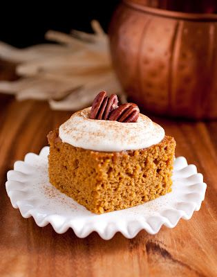 Pumpkin bars: Cream Cheese Frostings, Fluffy Cream, Frostings Recipe, Pumpkin Cakes, Cooking Classy, Pumpkin Recipe, Pumpkinbar, Cream Chee Frostings, Pumpkin Bars