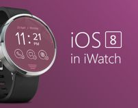 Concept art for iOS 8 watch.