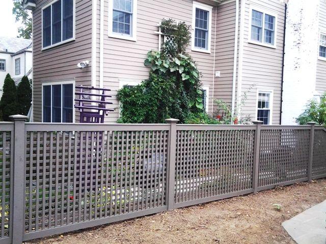 Grey Wood Lattice Fencing Wood Fence In 2019 Backyard