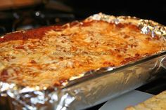 Baked Spaghetti...the best baked spaghetti recipe ever...I have made it for years, and my family loves it.