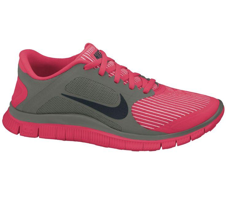 Nike - Free 4.0 V3 Damen Laufschuh rot/schwarz - Running - Löparskor - Dam - Billiga