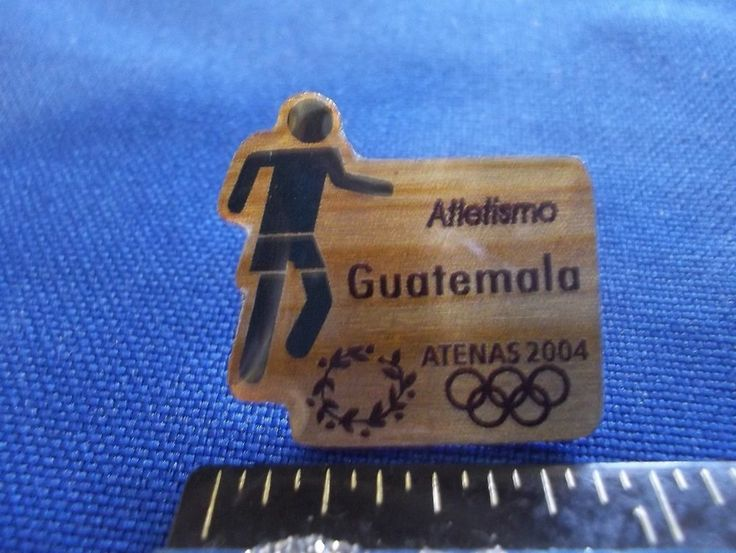 2004 Athens Olympic NOC Pin Team Guatemala Athletics Dated