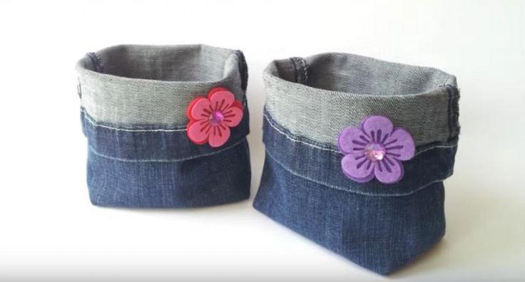 Elle transforme ses vieux jeans en quelque chose de beau et simple! Fallait juste y penser! - Trucs et Bricolages