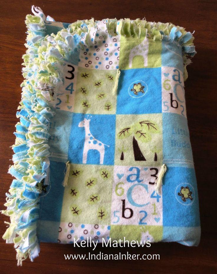 Easy baby blanket Indiana Inker: Handmade for Baby Bentley