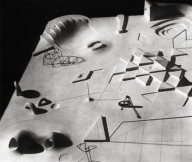Noguchi, Isamu, 1904-1988, sculptor.  Title:  Model for United Nations Playground, (sculpture).  Dates:  1952.  Medium:  Bronze.