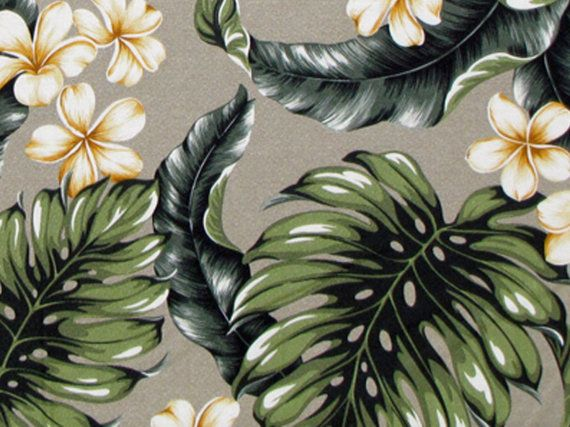 Tropical Upholstery Fabric Monstera Leaf by HawaiianFabricNBYond