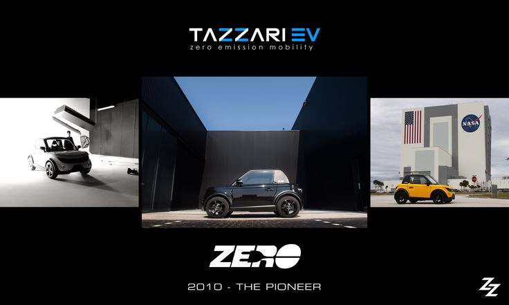 2010 - THE PIONEER  The journey began with the pioneering dream of Zero: the first Citycar with Sportcar technology and the first electric vehicle in the world born with lithium batteries in its category.  #Tazzari #Zero #EV #TazzariEV #electriccar #zeroemission #madeinItaly #Imola #motorvalley #bluetooth #nextgen #nextgeneration #history