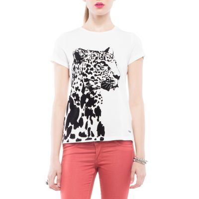 Polera Leopardo Blanca Mossimo | TodoMercado
