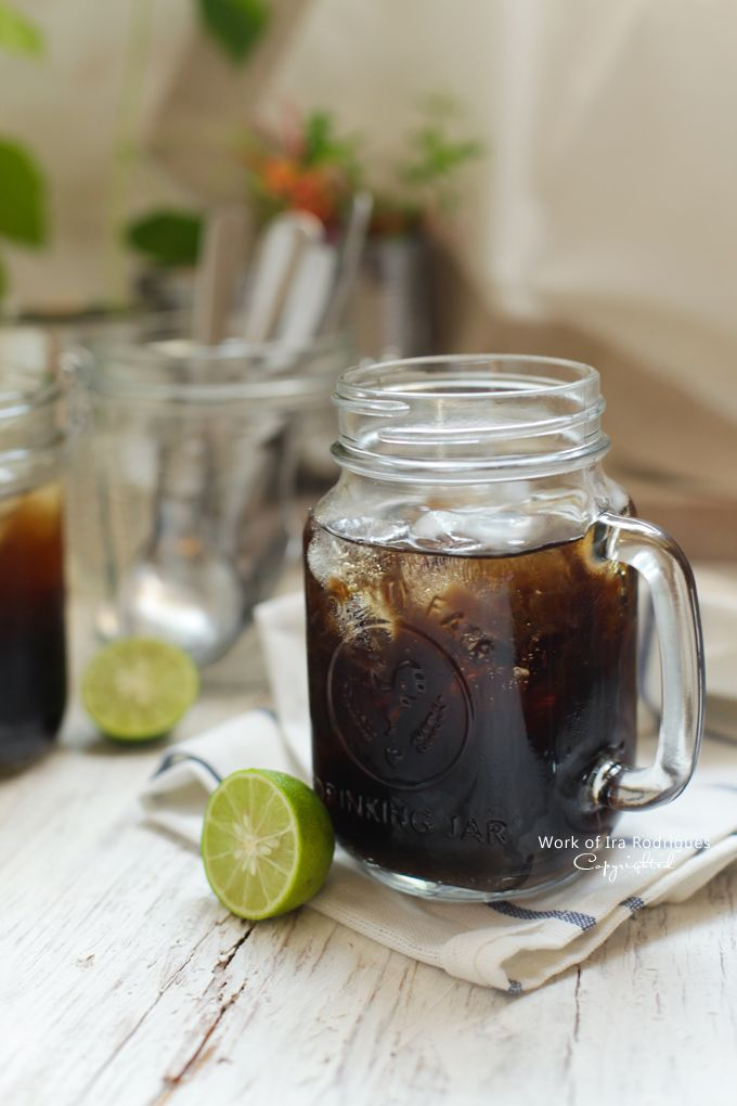 Grass jelly Ice ( Es cincau sirup pandan )