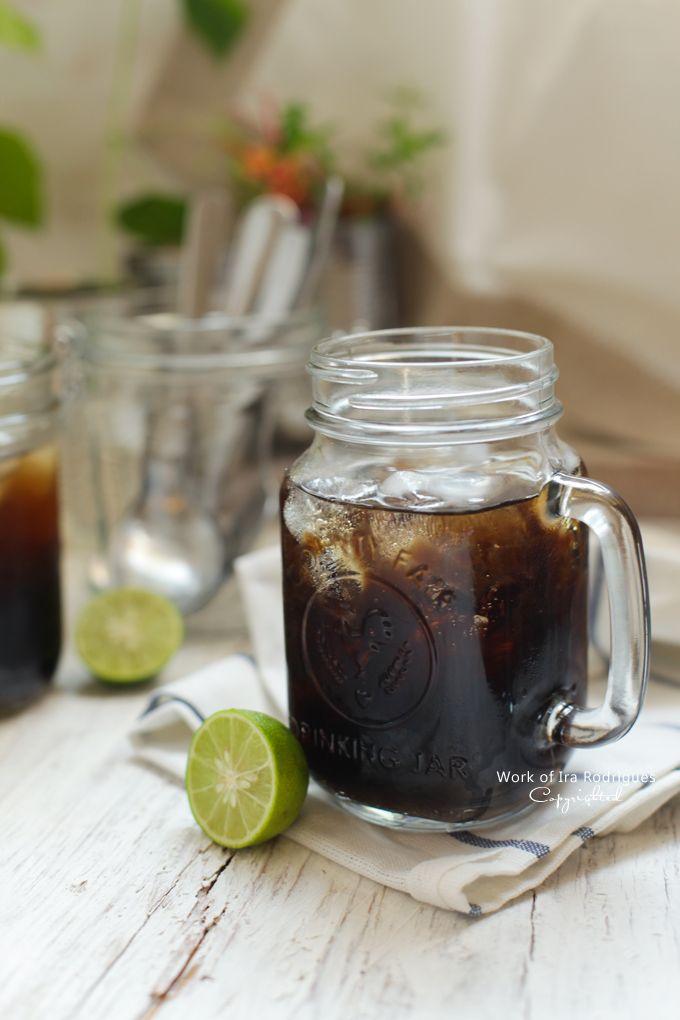 Grass jelly Ice ( Es cincau sirup pandan )