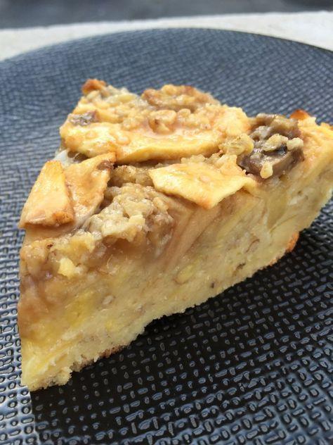 Gâteau léger aux pommes et flocon d'avoine