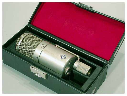 Neumann U47 FET & Tube Vox, Acoustic Guitar, Drum Overheads, Room mics. Vintage mic. Two types: a tube circuit design and the more modern FET design. Both are excellent. The great thing about the U47 Sounds good on almost anything.