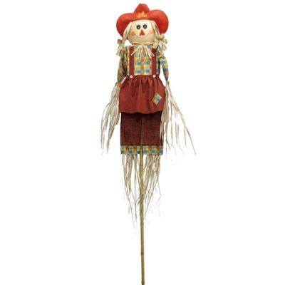 Holiday Living 9-ft Burlap Girl Scarecrow