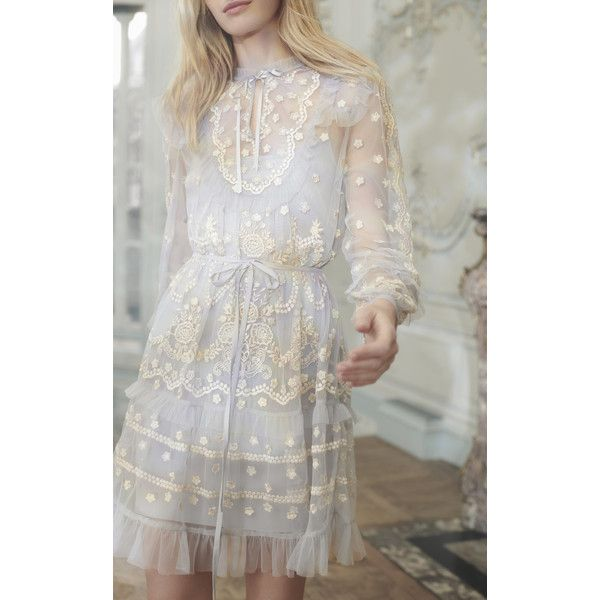 Needle & Thread Flapper Mini Dress ($460) ❤ liked on Polyvore featuring dresses, embellished flapper dress, flapper inspired dress, flapper style dresses, mini dress and embellished dress