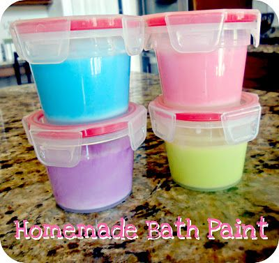 Homemade Bath Paint -- so simple and I have all the ingredients!