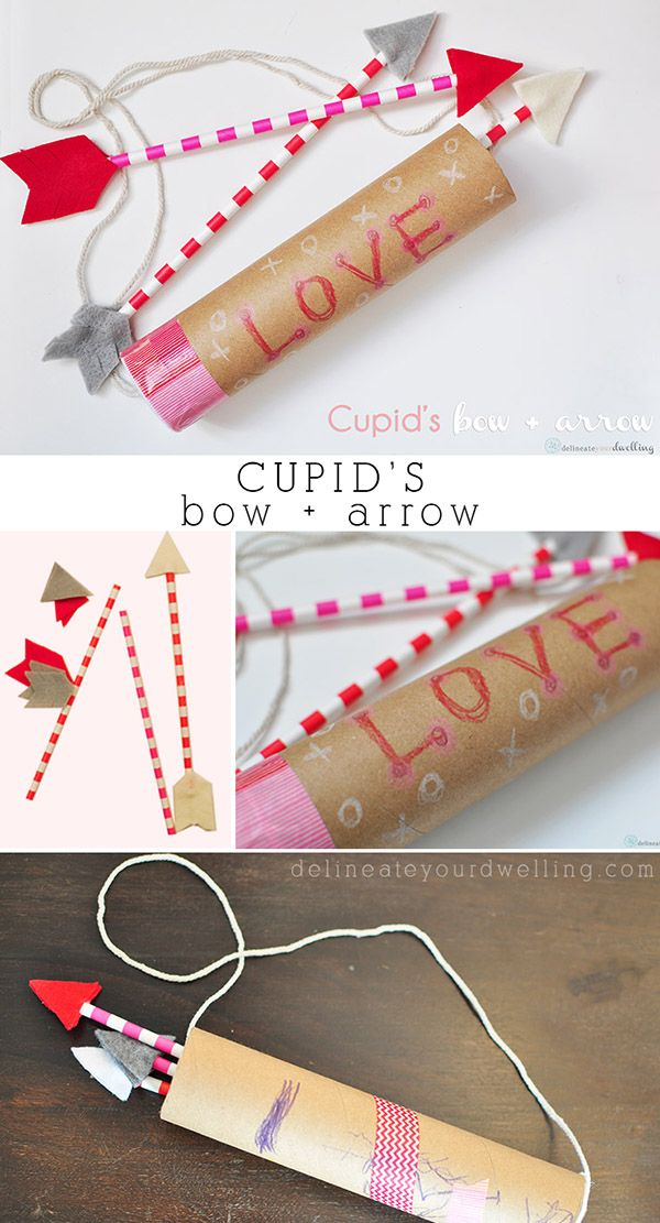 Cupid's Bow and Arrow craft, so fun to create with your children!  Delineateyour…