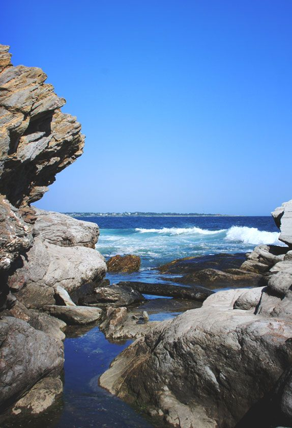 Hike around Beavertail State Park. Things to do in the summer in Rhode Island. Beautiful beach and light house.