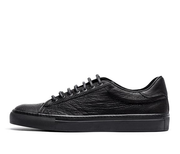 WINGS AND HORNS - Leather low-top sneakers. Made in Italy.