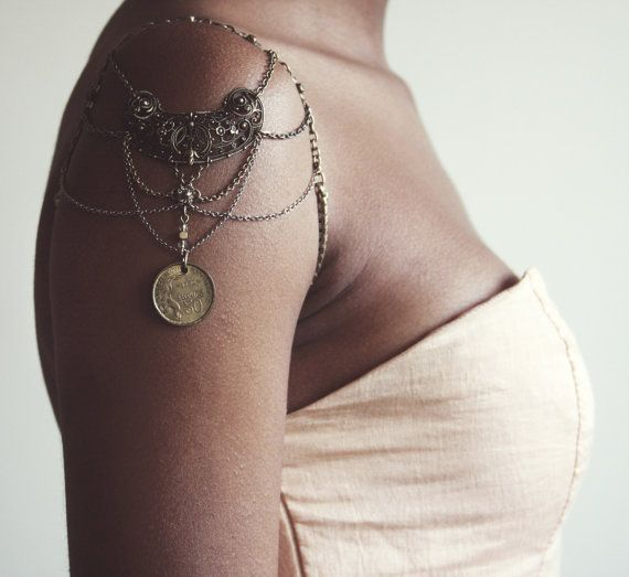 Shoulder Chain Arm Chain Vintage Recycled by xTarnishedx on Etsy