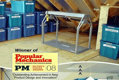 17 best ideas about attic lift on pinterest garage lift for Garage attic lift elevator