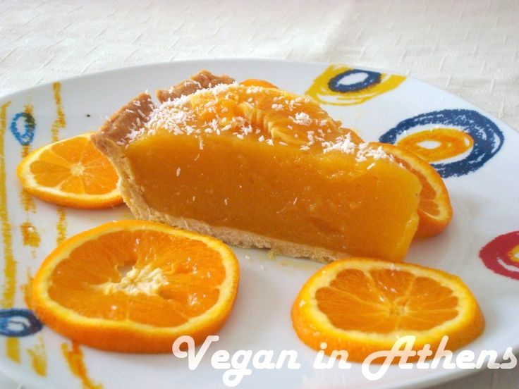 Decadent vegan orange cream tart! #vegan #orangecream #tart