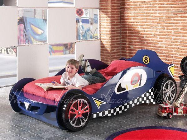 Haani Speed Racer 3ft Single Blue Racing Car Bed Frame Car Bed Kid Beds Car Bed Frame