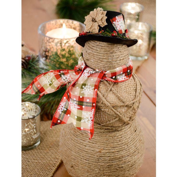 How to make a burlap snowman build a snow buddy rustic for Snowman made out of burlap