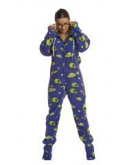 Alien Adult onesie Footed Pajamas