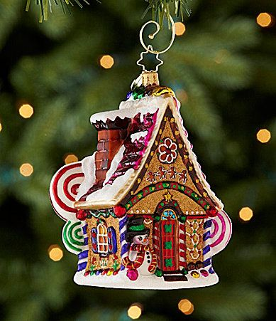 Christopher Radko Home Sweet Home Gingerbread House Ornament #Dillards