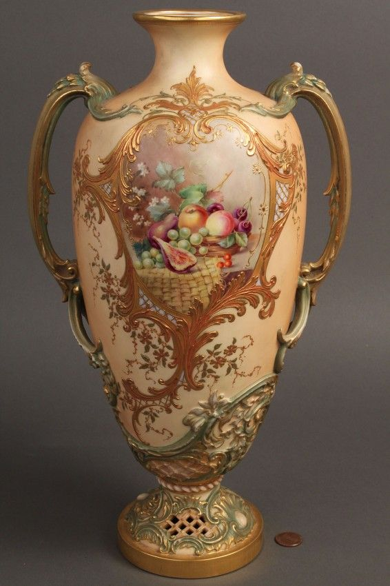 Royal Worcester Blush Ivory Vase
