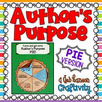 Author's Purpose: Here's a hands-on way to practice author's purpose! It also makes a creative bulletin board or school hallway display! persuade inform entertain I have used this version with my 2nd and 3rd grade students. (I take it a step further