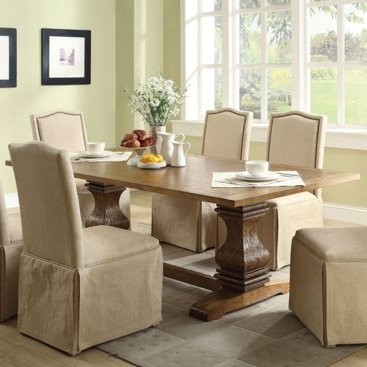 Create A Lasting Impression In Your Dining Room With This Distinctive  Parkins Rectangular Dining Table Finished