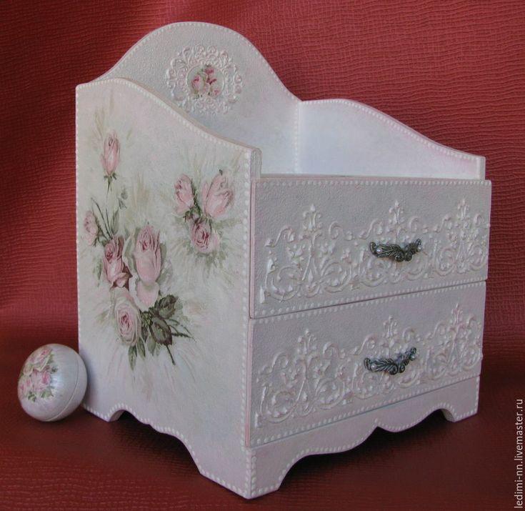 """Купить Комод 'Пыльная роза"""" - бледно-розовый, комод, мини комод, маленький комод, комодик"""