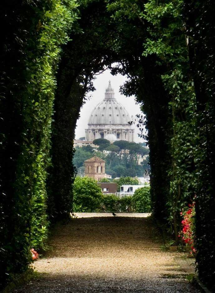The view through the keyhole on the gate of The Knights of Malta headquarters on Aventine Hill, Rome. I found this by accident when I was lost in the maze surrounding my hotel. Getting lost in Rome is wonderful.