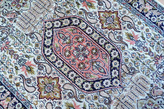 Vintage Floral Turkish Rug Pastel Persian Rug Silk Rug Small Etsy Vintage Persian Rug Pink Persian Rug Persian Rug